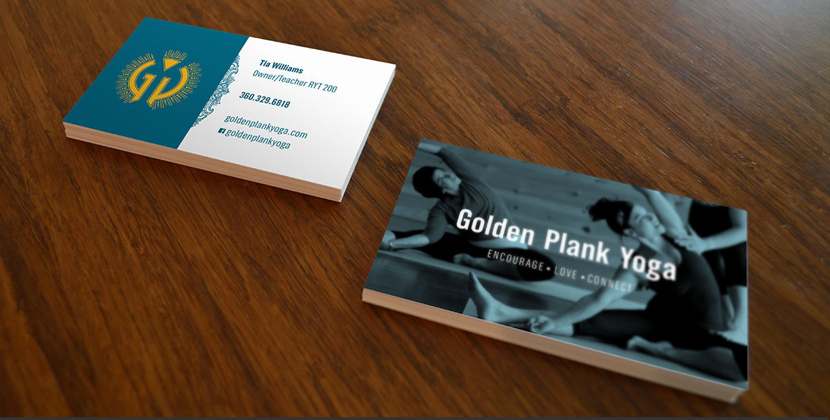 Golden Plank Yoga business cards