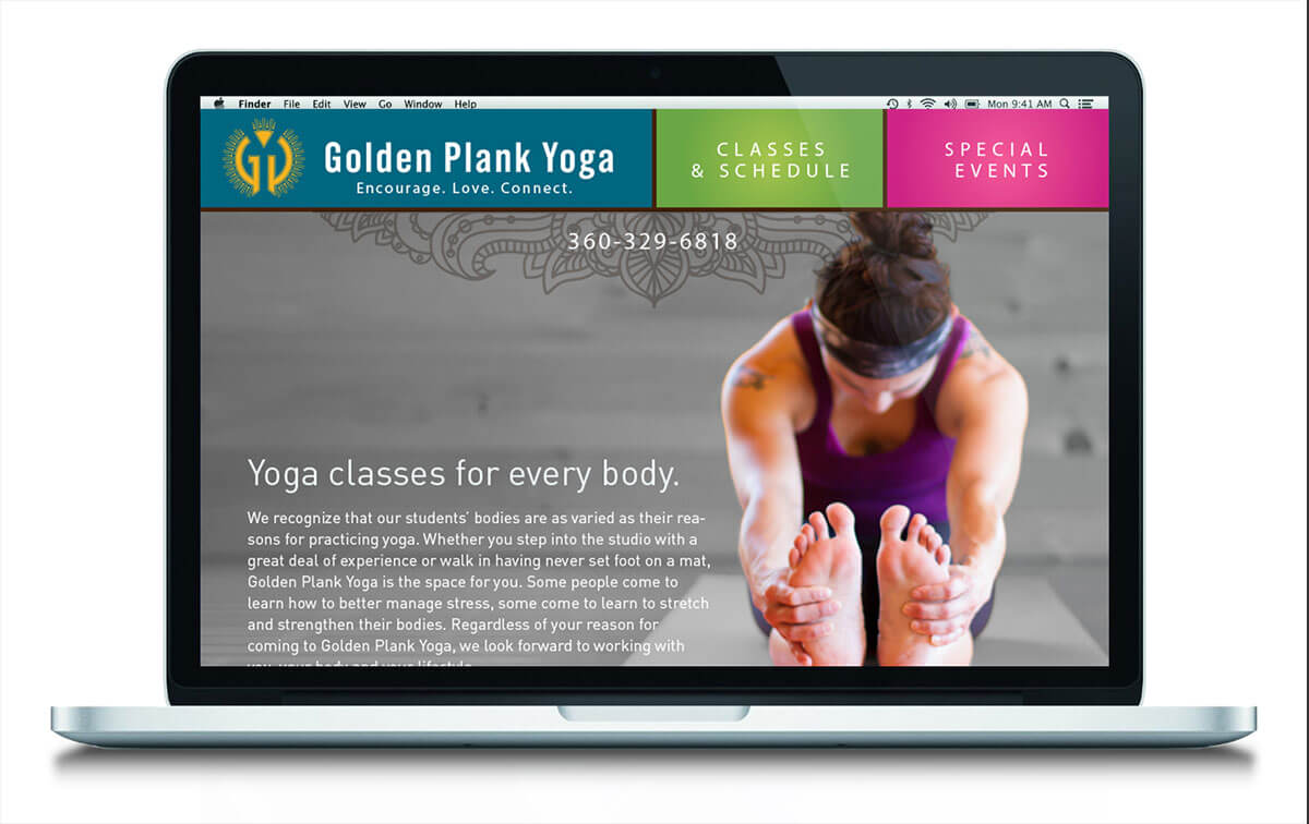 Golden Plank Yoga homepage