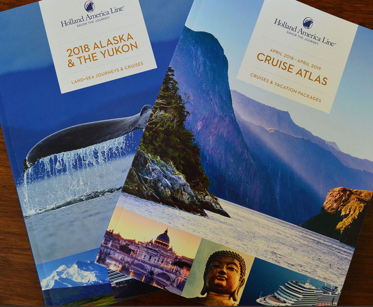 Holland America Line brochures