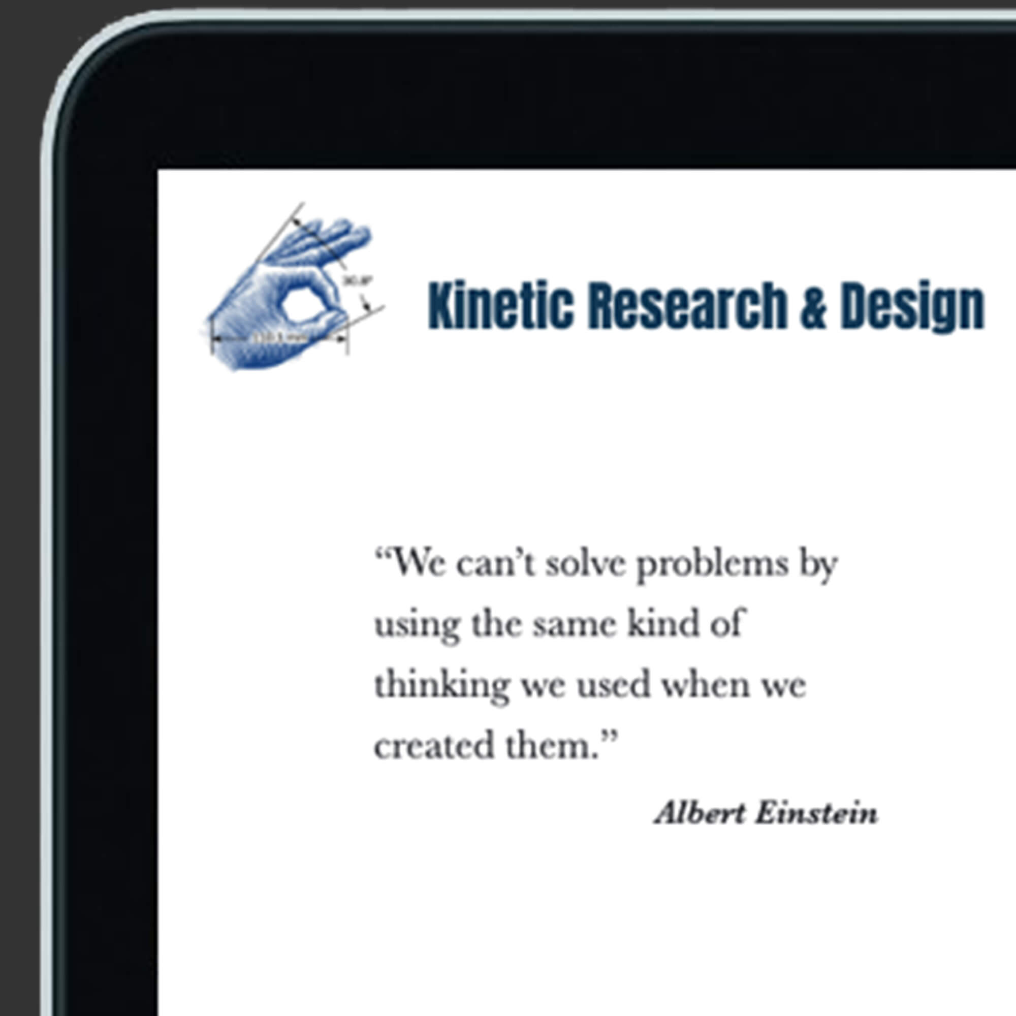 See my work for Kinetic Research & Design